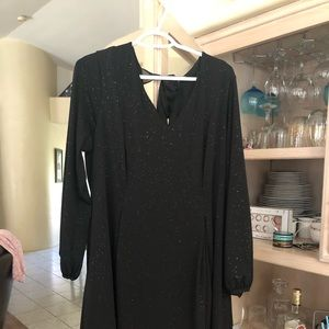 Black shiny dress size 1 x new with tags